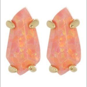 Kendra Scott Jillian Earrings In Coral Opal